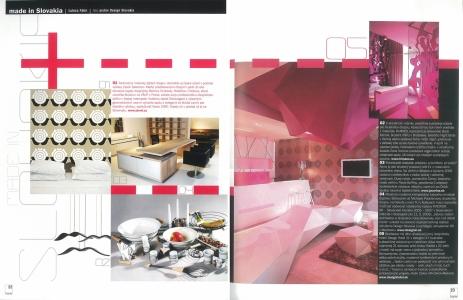 <h5>Súprava v časopise Interiér</h5>