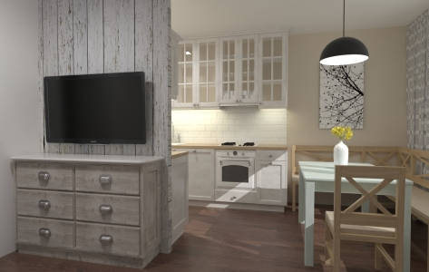 <h5>Interiér kuchyne a obývačky</h5>