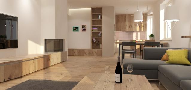 <h5>kuchyňa s obývačkou</h5>