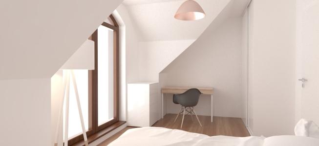 <h5>Vizualizácia – Hosťovská izba</h5>