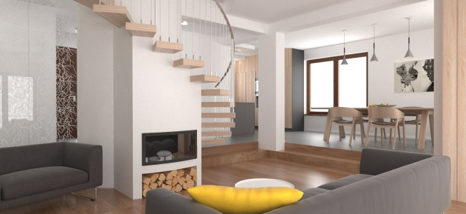 <h5>Vizualizácia – Obývacia izba</h5>